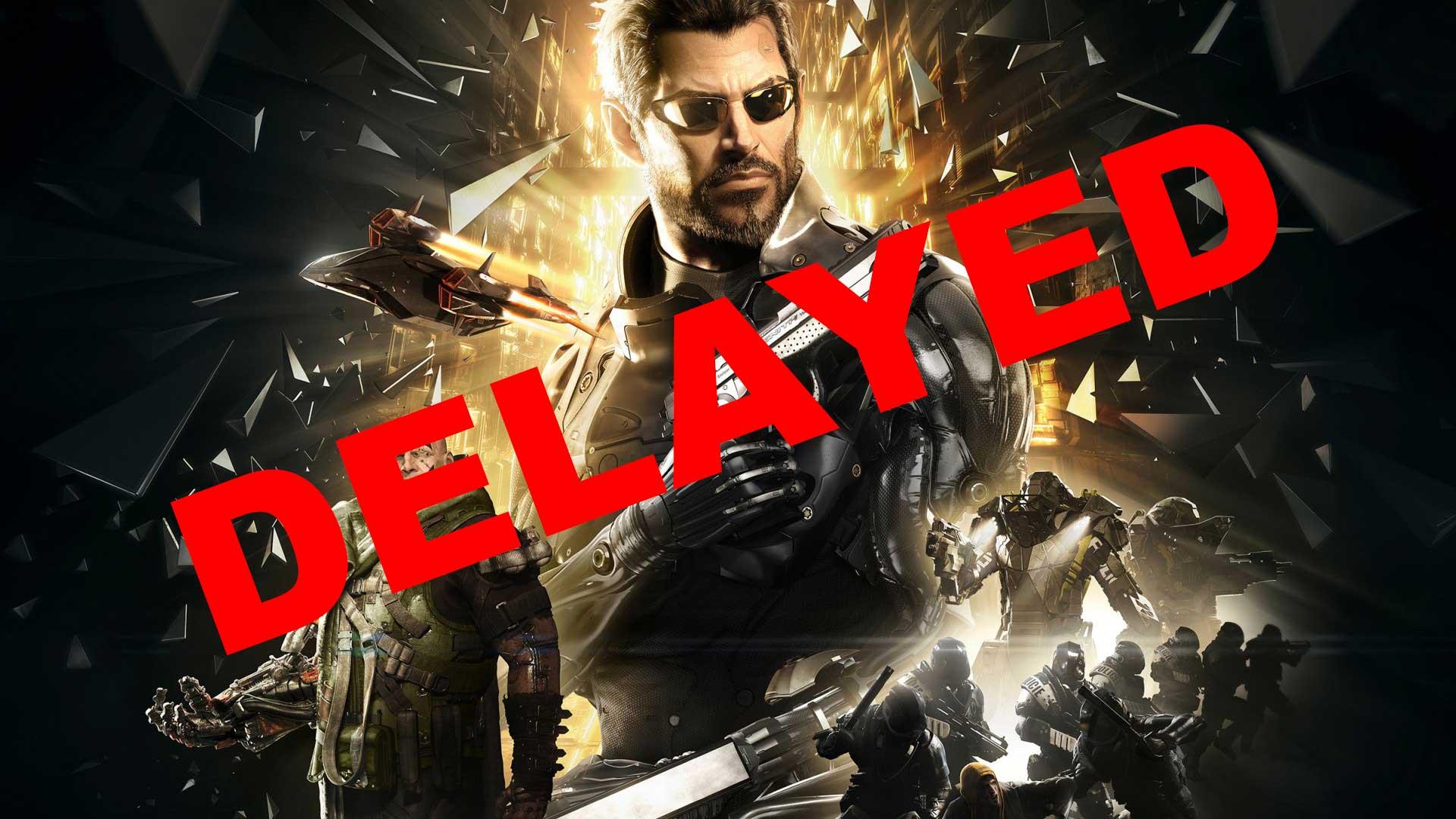 Mal dia para los fans de Deus Ex, se retrasa hasta el 23 de Agosto.