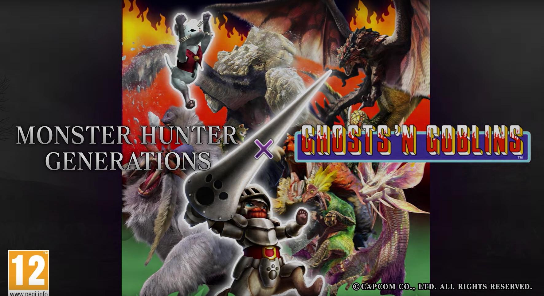 Monster Hunter: Generations, vídeo con la Skin de Arthur de Ghosts'n Goblins para Feline