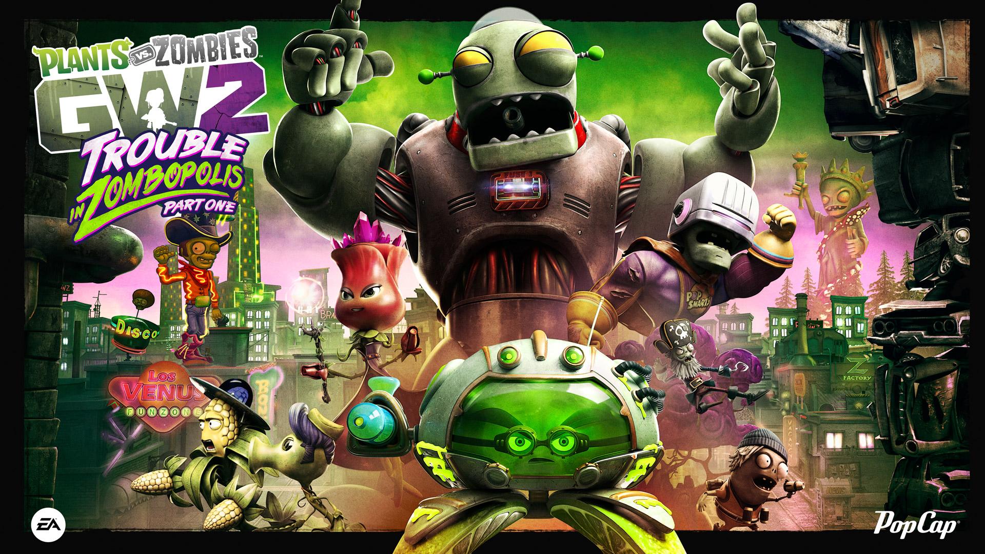 Trouble in Zombopolis parte uno, el nuevo contenido gratuito de Plants vs. Zombies Garden Warfare 2 ya está aquí, entérate de todas las novedades