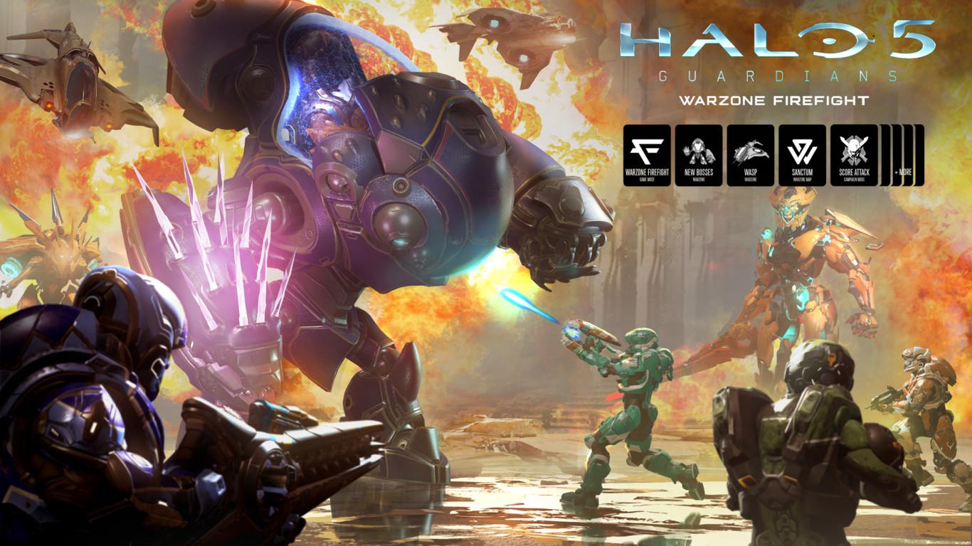Ya disponible Warzone Firefight para Halo 5: Guardians, la última y mas grande actualización gratuita que recibirá el título de 343 Industries