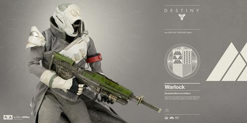 Impresionante figuras de un brujo y un cazador del universo Destiny