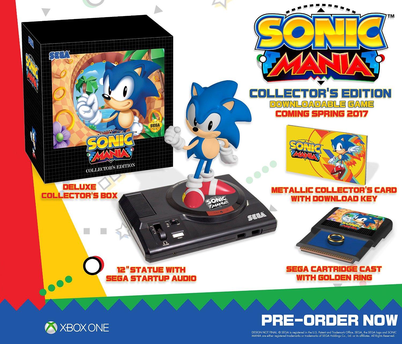 La edición americana de Sonic Mania Collector's Edition llegará a Europa.