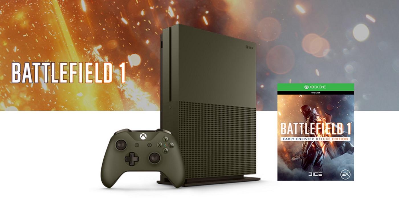 Unboxing oficial de la edición especial del pack XBox One S y Battlefield 1