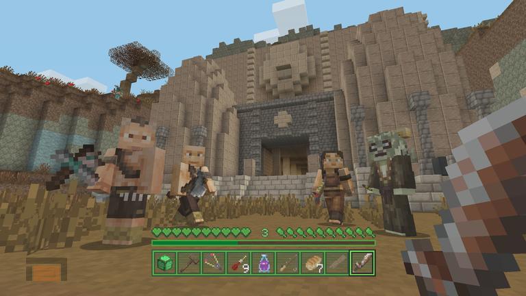 Mojang presenta Minecraft Fallout Edition para consolas