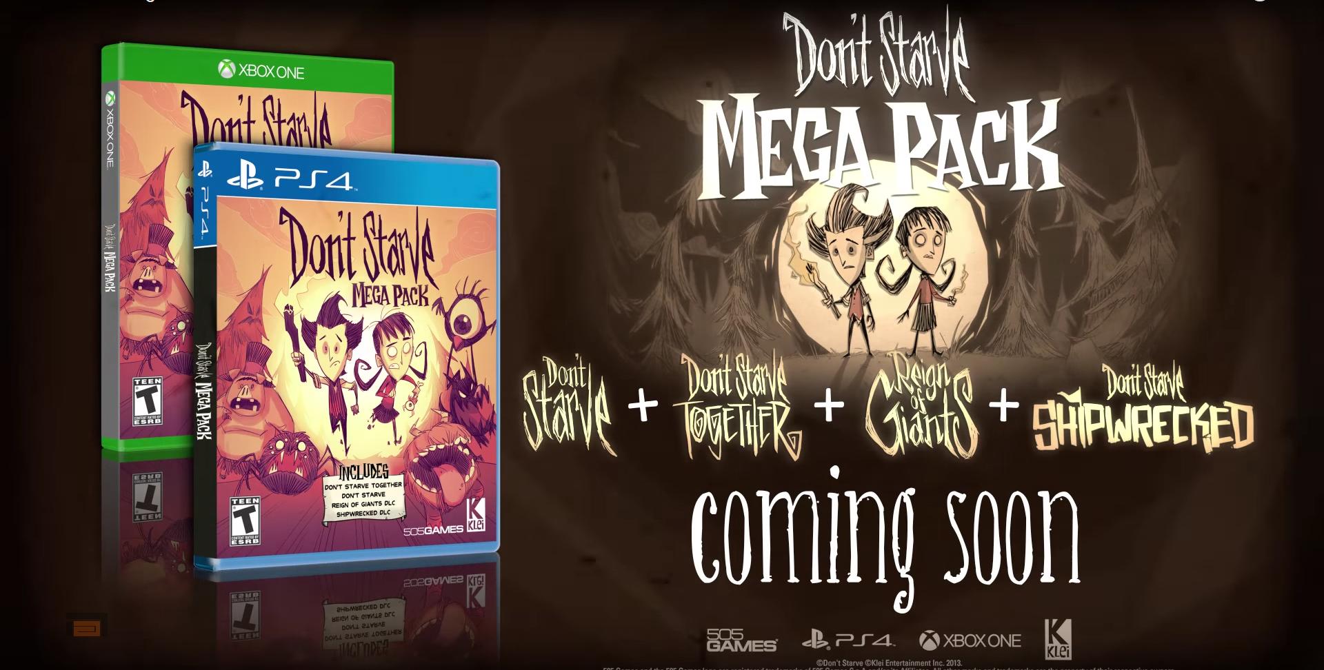 Anunciado Don't Starve y sus expansiones en formato físico para Xbox One y PlayStation 4