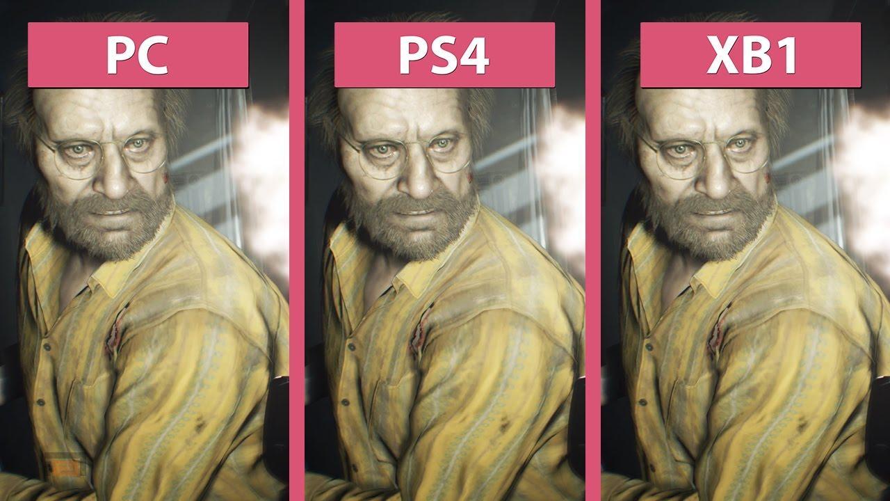 Comparativas varias entre versiones de Resident Evil 7, PS4, PS4 Pro, PC, PC 4K y Xbox ONE