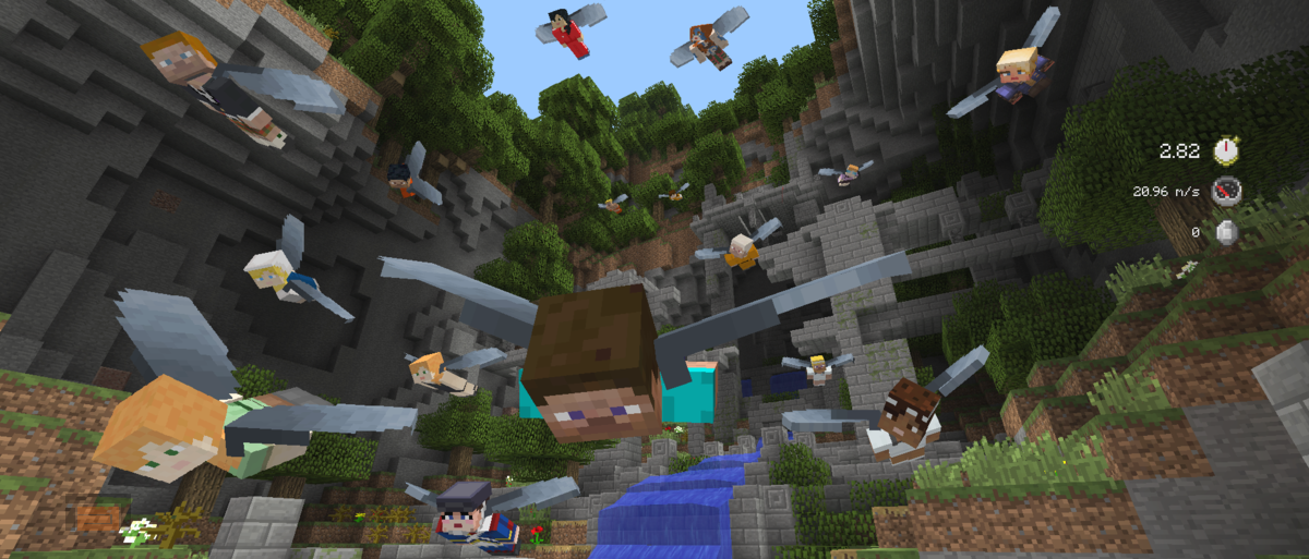Vuela con las Elytra con Glide Mini Game para Minecraft Console Edition gratis y entérate de todas las novedades de la versión 1.0.5 de la Pocket/Windows 10 Edition