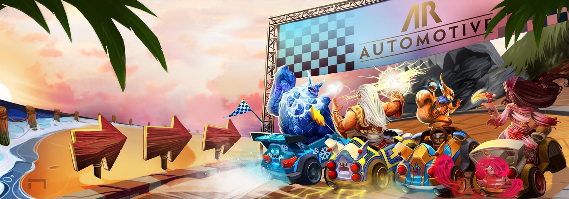 Apollo's Racer Rumble ya disponible para SMITE. Nuevo modo al estilo Mario Kart