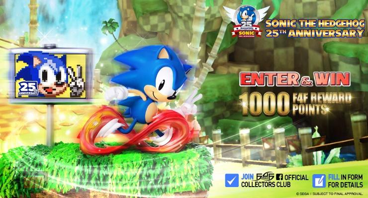 First 4 Figures anuncia la figura por el 25 aniversario de Sonic the Hedgehog