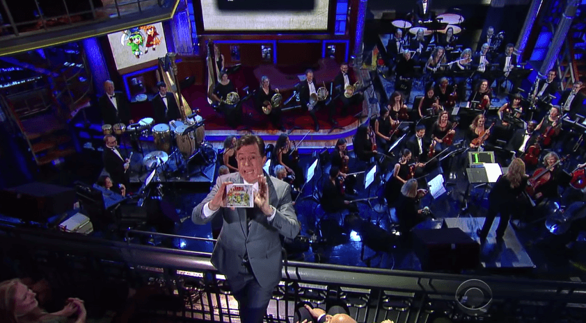Performance Orchestral de Zelda Tri Force Heroes en The Late Show with Stephen Colbert