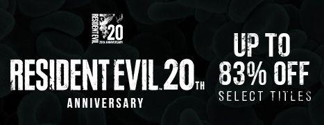 Capcom celebra el 20º aniversario de Resident Evil con ofertas de hasta el 83% en Steam