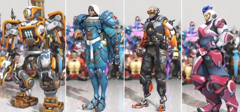Primeras imagenes de cuatro skin en el aniversario de Overwatch